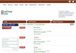 web site landforum Uganda